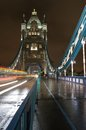 Night photography tower bridge london uk Stock Photo