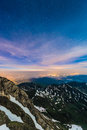 Night at Pic du Midi, France Royalty Free Stock Photo