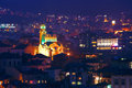 Night picture of Veliko Tarnovo,  The cathedral Rogdestvo Bogorodichno/Nativity of the Virgin/ , Bulgaria Royalty Free Stock Photo