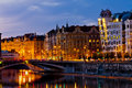 Night Praha panorama Royalty Free Stock Photo