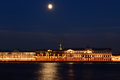 Night quay  (Saint-Petersburg, Russia) Royalty Free Stock Photography