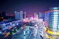 Night railway station china nanchang at Royalty Free Stock Photo