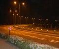 Night road Στοκ Φωτογραφίες