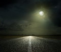 Night Road Royalty Free Stock Photo