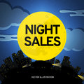 Night of sales of cars vectorial illustration eps Stock Photos