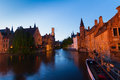 Night scene of Brugge Royalty Free Stock Photo