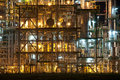 Night scene of chemical plant Stock Images