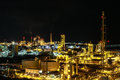 Night scene of chemical plant Royalty Free Stock Images