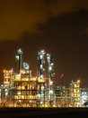 Night scene of chemical plant Stock Photos
