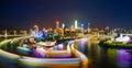 Night scene of Chongqing city Royalty Free Stock Photo