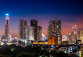 Night scene cityscape bangkok metropolis in the Stock Photo