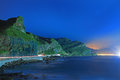 Night Scene of Coast in Taiwan Stock Photography