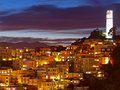 The night scene of coit tower Royalty Free Stock Photo