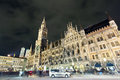 The night scene of famous town hall in munich city center Stock Photo