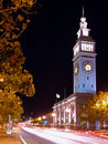 The Night Scene of Ferry Building Stock Photography