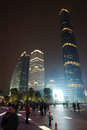 Night scene in guangzhou Zhujiang New Town Stock Photo