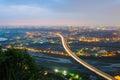 Night scene of highway in taipei Royalty Free Stock Photo