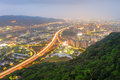 Night scene of highway in taipei Royalty Free Stock Photo