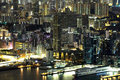 Night scene of the kowloon hong kong Stock Photo
