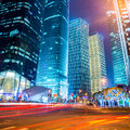 Night scene of modern city Royalty Free Stock Photography