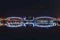 Night scene of neva river view the rive saint petersbugr Royalty Free Stock Image