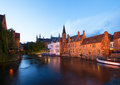 Night scene of old Brugge Royalty Free Stock Photo