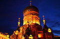 Night scene of Saint Sophia Cathedral in Harbin,China Royalty Free Stock Image