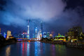 Night scene of shanghai city Stock Images