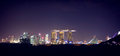 Night scene of Singapore, Marina bay sands Royalty Free Stock Photo