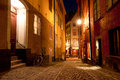 Night scene in Stockholm old town