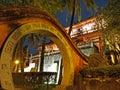 Night Scene of Tainan Chihkan Tower Royalty Free Stock Photo