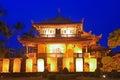 Night Scene of Tainan Chihkan Tower in Taiwan Royalty Free Stock Photo