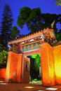 Night Scene of Tainan Confucius Temple in Taiwan Royalty Free Stock Photo