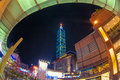 Night scene of taipei city Royalty Free Stock Photo