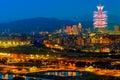 Night scene of Taipei city Royalty Free Stock Photo
