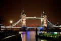 Night scene of Tower Bridge Royalty Free Stock Photo