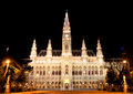Town hall Vienna at night Royalty Free Stock Photo