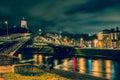Night scene of Vilnius Royalty Free Stock Photo