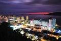 Night scenery of kota kinabalu city sabah borneo malaysia after sunset Royalty Free Stock Photo