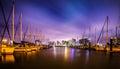 Night scenes around corpus christi texas Royalty Free Stock Photo