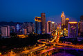Night scenes of Chongqing Royalty Free Stock Photo