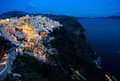 Night scenes of santorini greece Royalty Free Stock Photos