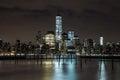 Night scenes of WTC Royalty Free Stock Photo