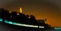 Night seen of jaffa in southern tel aviv israel photo taken on december Stock Images