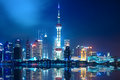 Night shanghai skyline Stock Photo