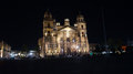 Night shot of the cathedral in Toluca mexico