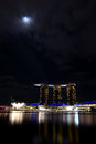 Night shot marina bay sands Royalty Free Stock Photos