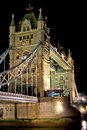 Night shot of Tower Bridge Royalty Free Stock Photo