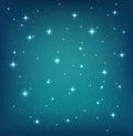Night sky background with glittering stars
