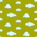 Night sky clouds seamless vector pattern. Royalty Free Stock Photo